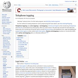 Telephone tapping