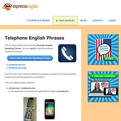 Telephone English Phrases – Espresso English