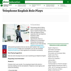 Telephone English Using Role Plays for ESL