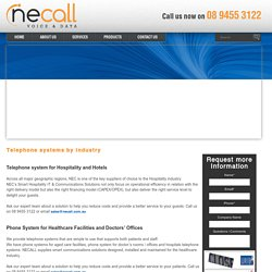 Telephone System by Industry – Industrial Phone System