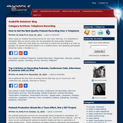 AudioFile Solutions Blog