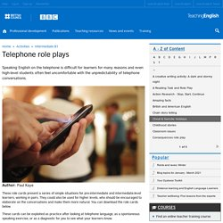 Telephone role plays