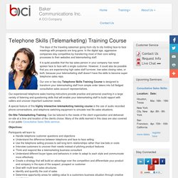 Telephone Skills (Telemarketing) Training Course