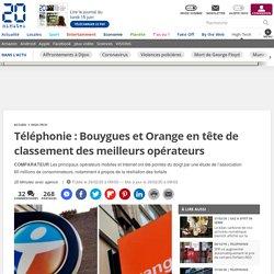 Téléphonie: Bouygues et Orange en tête de classement des meilleurs opérateurs