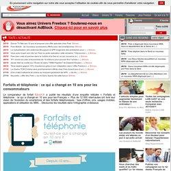 Forfaits et téléphonie: ce qui a changé en 10 ans pour les consommateurs