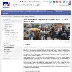 Impact du Téléphone mobile en Haïti. De 6% à 30% d'utilisateurs en 1 an
