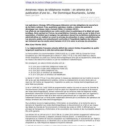 Imprimer: Antennes relais de téléphonie mobile : en attente de la publication d'une loi... Par Dominique Roumaneix, Juriste