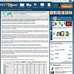 Téléphonie mobile et roaming : tous les prix des opérateurs - Page 1 - PC INpact