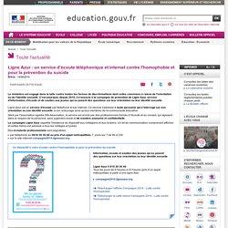 Ligne Azur : un service d'écoute téléphonique et internet contre l'homophobie et pour la prévention du suicide