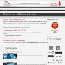 Réduction coût téléphonique entreprise - Comin Desk