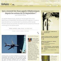 Qui a inventé les faux appels téléphoniques depuis les avions du 11-Septembre ?