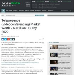 Telepresence (Videoconferencing) Market Worth 2.63 Billion USD by 2022