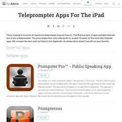 Teleprompter Apps For The iPad: iPad/iPhone Apps AppGuide