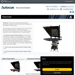 Teleprompters - Teleprompter Experts Since 1955 - Autocue