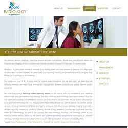 Elective General Radiology Reporting Services