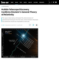 Hubble Telescope Discovery Confirms Einstein's General Theory of Relativity