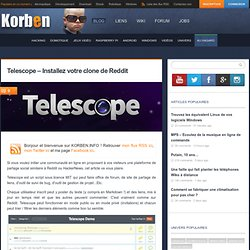 Telescope - Installez votre clone de Reddit