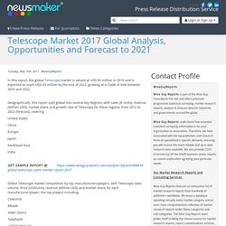 Telescope Market 2017 Global Analysis, Opportunities and Forecast to 2021