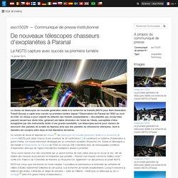 De nouveaux télescopes chasseurs d'exoplanètes à Paranal