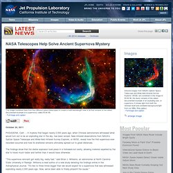 Telescopes Help Solve Ancient Supernova Mystery - NASA Jet Propulsion Laboratory - Iceweasel