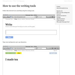 Telescopic Text → Resources → How to use the writing tools