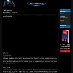 Telescopios - Fórmulas prácticas .:. Astronomía Sur