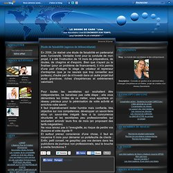 Etude de faisabilité (agence de télésecrétariat) - Le monde des secrétaires et des entrepreneurs