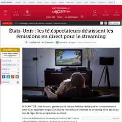États-Unis : les téléspectateurs délaissent les émissions en direct pour le streaming