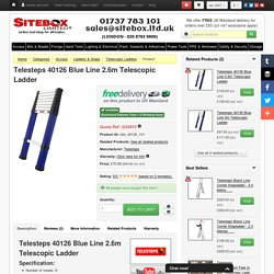 Telesteps 40126 Blue Line 2.6m Telescopic Ladder » Product
