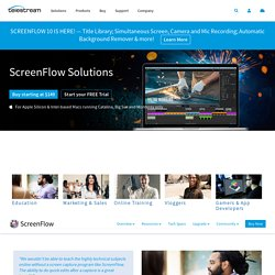Video Editing and Screen Recording Software