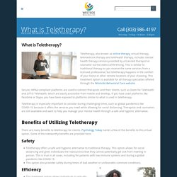 What is Teletherapy? - Westside Behavioral Care