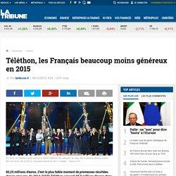 Téléthon, les Français beaucoup moins généreux en 2015