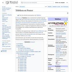 Téléthon en France
