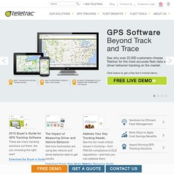 Vehicle Tracking Solutions | GPS Vehicle Tracking System - Teletrac