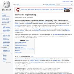 Teletraffic engineering