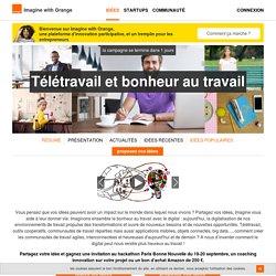 Télétravail et bonheur au travail - imagine with orange