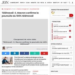 Télétravail: E. Macron confirme la poursuite du 100% télétravail