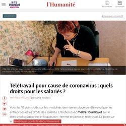 Télétravail pour cause de coronavirus : quels droits pour les salariés ?