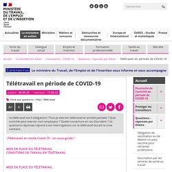Télétravail - covid-19 coronavirus - FAQ- questions-réponses