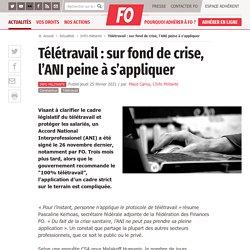 Télétravail : sur fond de crise, l'ANI peine à s'appliquer