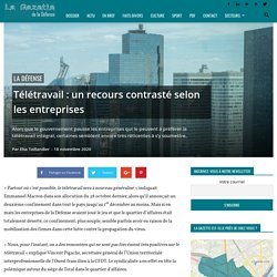 La Défense - Télétravail: un recours contrasté selon les entreprises