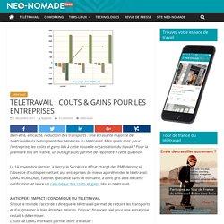 TELETRAVAIL : COUTS & GAINS POUR LES ENTREPRISES