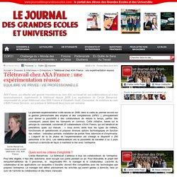 Télétravail chez AXA France : une expérimentation réussie