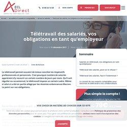 Télétravail des salariés, vos obligations en tant qu'employeur - ECL DIRECT