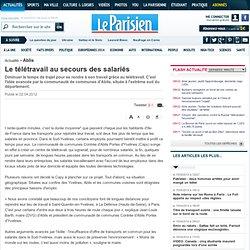 Le télétravail au secours des salariés - 02/04