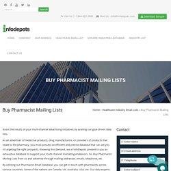 95% Televerified Pharmacist Mailing Lists