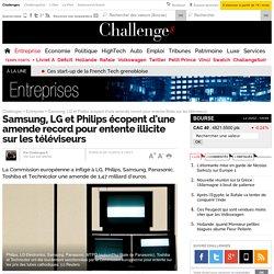 Samsung, LG et Philips écopent d'une amende record pour entente illicite sur les téléviseurs - 5 décembre 2012