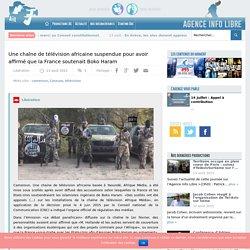 Une chaîne de télévision africaine suspendue pour avoir affirmé que la France soutenait Boko Haram