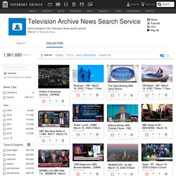 Internet Archive - Television Archive News Search Service