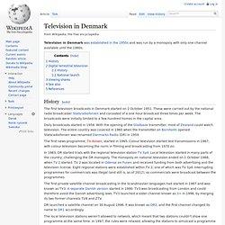 Television in Denmark